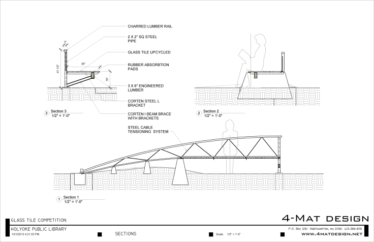 BENCH 3 - Sheet - A112 - SECTIONS